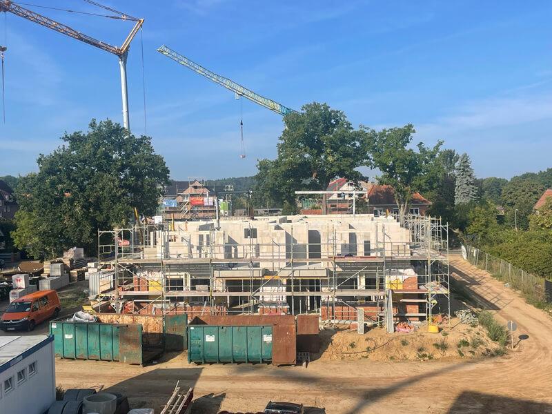 Jägerhaus Fertigstellung Mauerwerk 1. OG